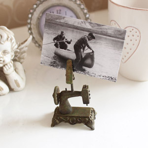 Miniature Sewing Machine Card Holder