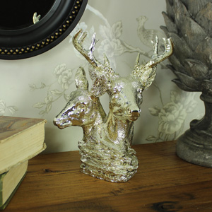 Silver Stag Head Ornament