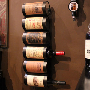 Wall Mounted Six Bottle Wine Holder