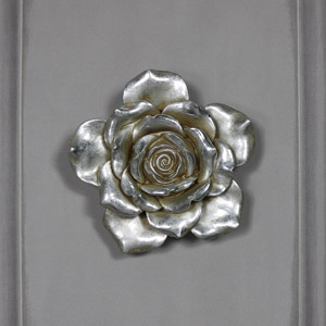 Small Antique Silver Wall Mountable Flower