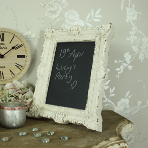 Small Cream Vintage Framed Chalk Board
