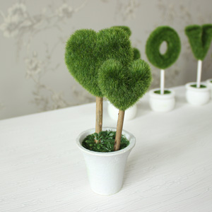 Small Decorative Topiary Double Heart Tree