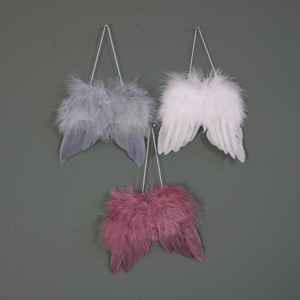 Small Feather Angel Wings Hanging Decoration