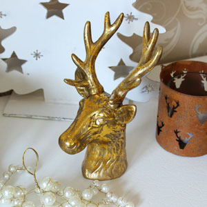 Gold Ornamental Stags Head