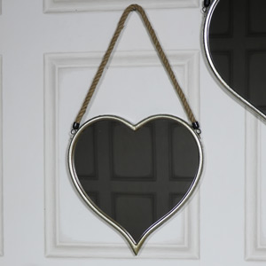 Small Gold Heart Shaped Wall Mirror