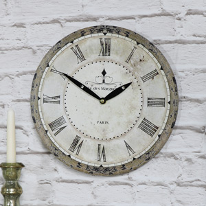 Small Grey Vintage French Wall Clock