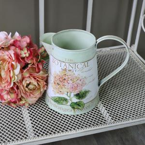 Small Ornamental Floral Hydrangea Metal Jug