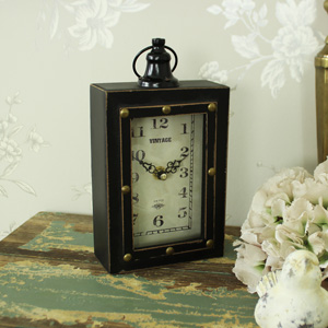 Small Vintage Brown Desk Clock