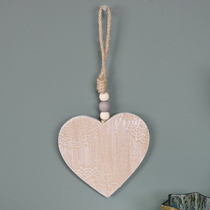 Small Wooden Hanging Heart