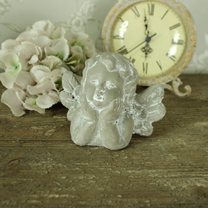 Stone Cherub Ornament