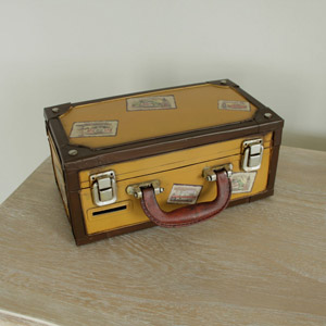 Vintage style ornamental Suitcase Money Box