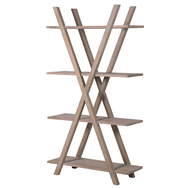 Tall Cross Framed Bookcase Display Unit
