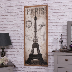 Tall Paris Wall Mounted Canvas Print