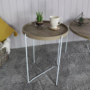 Tall Round Occasional/side Table