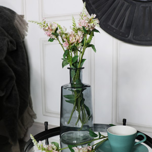 Tall Smoked Glass Apothecary Bottle Vase