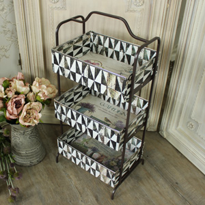 Three Tier Metal Storage Unit
