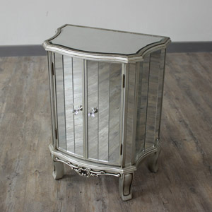 Tiffany Range - Mirrored Cupboard Storage Unit