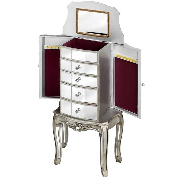 Tiffany Range - Mirrored Jewellery Armoire