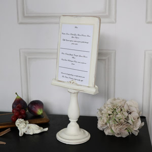 Vintage Cream Book/Menu Stand