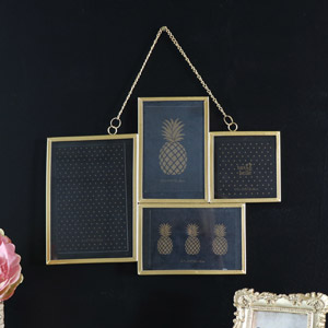 Vintage Gold Multi Photograph Frame