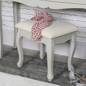 Vintage Grey Dressing Table Stool - Albi Range
