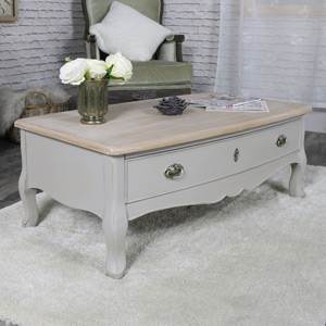 Vintage Grey Two Drawer Coffee Table - Albi Range