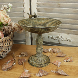 Vintage Metal Fruit Bowl on stand