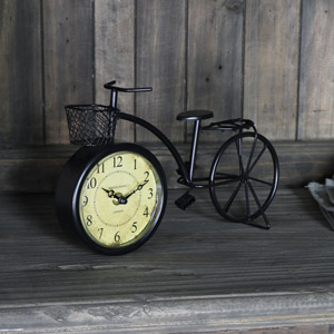 Vintage Retro Bicycle Mantel Clock