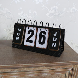 Vintage Retro Style Metal Perpetual Calendar