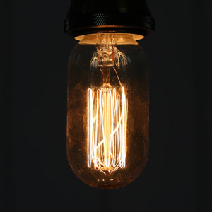 Vintage  Industrial style Tinted Short Tubular Glass 40W Filament Bulb