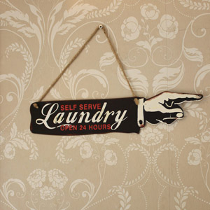 Wall Hanging Laundry Plaque