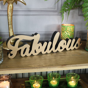 """Wall Mounted Gold """"Fabulous"""" Plaque"""