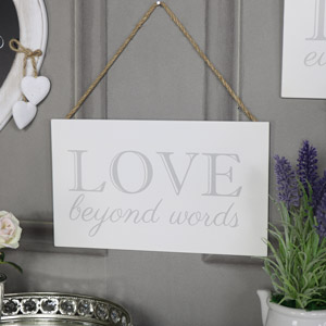 "Wall Mounted Plaque ""Love Beyone Words"""