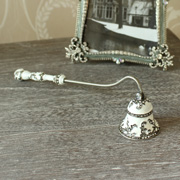 White Ornate Gem Candle Snuffer