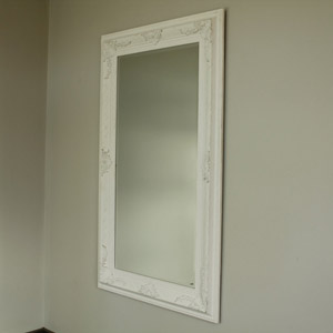 White Bevelled Wall Mirror