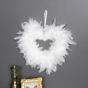 White Feather Wall Hanging Decoration