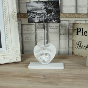 White Heart Card Holder