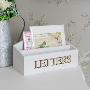 White Heart Letter Rack