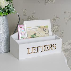 White Heart Letter Rack