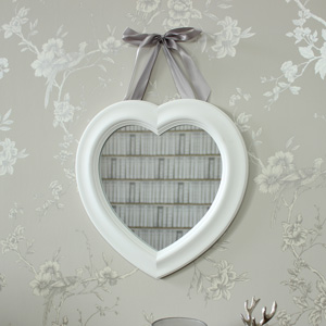 White Heart Wall Mirror