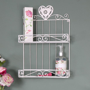 White Heart Wall Rack