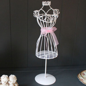 White Metal Mannequin Jewellery Holder