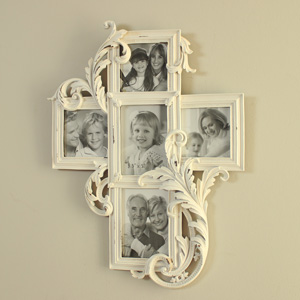 White Multi Photograph Frame