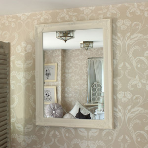 White Ornate Wall Mirror