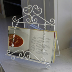 White Tablet/ Recipe Book Holder