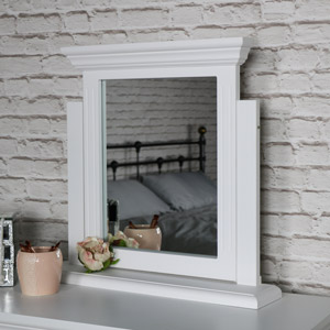 White Tabletop Vanity Swing Mirror - Daventry White Range