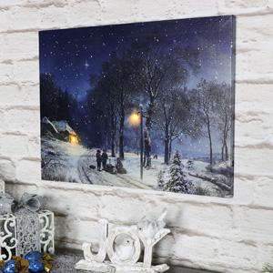 Winter Scene Christmas Canvas
