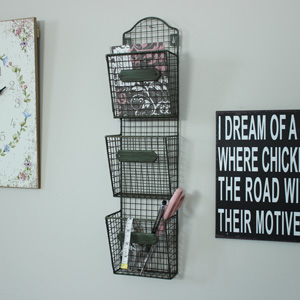 Wirework Industrial Wall Letter Rack