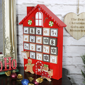 Wooden Advent Gingerbread House