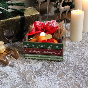 Wooden Christmas Storage Crate